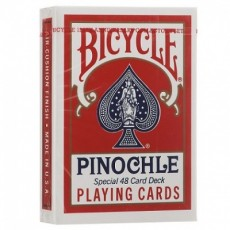 Карты Bicycle Pinochle Poker-size (красные)