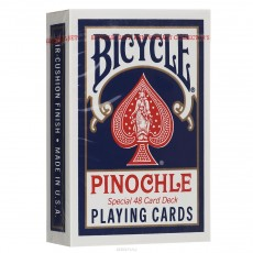 Карты Bicycle Pinochle Poker-size (синие)